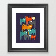 Stray Cats Framed Art Print