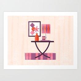 Mid-Century Modern Living - Table Art Print