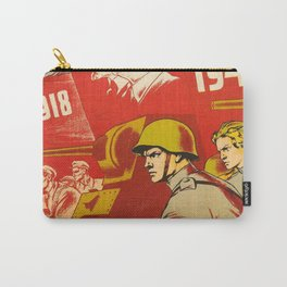 1943 Vintage 25th Anniversary Komsomol USSR WWII Soviet Propaganda Poster Carry-All Pouch