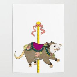 Opossum Carousel Poster