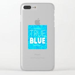 True Blue Clear iPhone Case