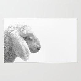Black and White Sheep Rug