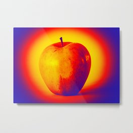 Hot and cold apple Metal Print