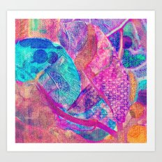 Floral patchwork(13). Art Print