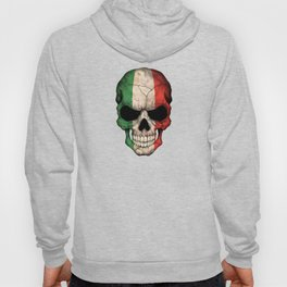 Dark Skull with Flag of Italy Hoody