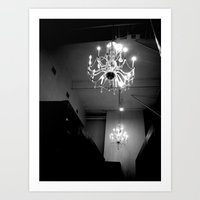 chandelier Art Prints featuring Chandelier by Kameron Elisabeth