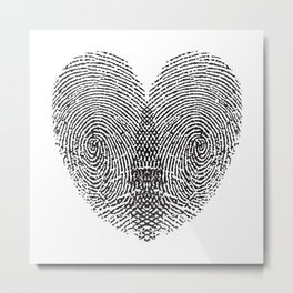 Love Fingerprint Metal Print