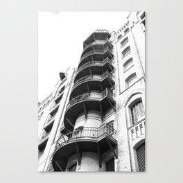 Warehouse District Architecture Hamburg Canvas Print