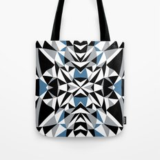 Abstract Kite Black and Blue Tote Bag