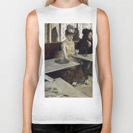 The Absinthe Drinker by Edgar Degas Biker Tank