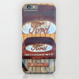 Rusty Enamel French Sign iPhone Case