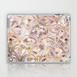 Dusty Rose and Coral Art Deco Marbling Pattern Laptop & iPad Skin