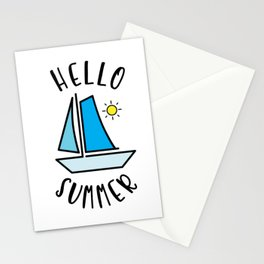 Hello Summer Sailing Stationery Cards