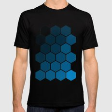 Geometric Abstraction II MEDIUM Black Mens Fitted Tee