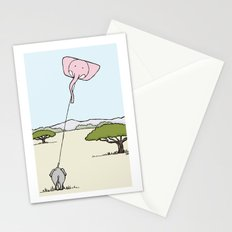 When An Elephant Flies a Kite Stationery Cards