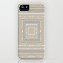 Sandy Beige Concentric Squares iPhone Case
