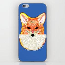 Fox in Blue iPhone Skin