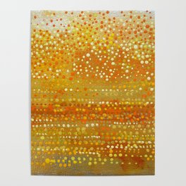 Landscape Dots - Orange Poster