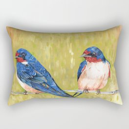 Barn Swallows Rectangular Pillow