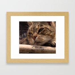I miau you Framed Art Print