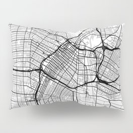 Los Angeles Map White Pillow Sham