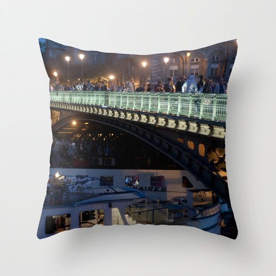 Paris by Night III Throw Pillow