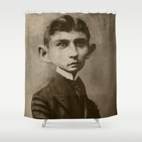 kafka Shower Curtains featuring Kafka by Jason Seiler