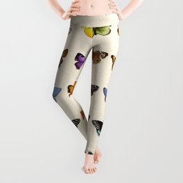 Watercolour Butterfly Chart Leggings