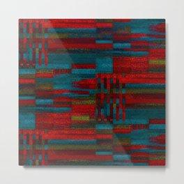 Dark reds in lines of chalk Metal Print