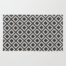 kilim black and white Rug