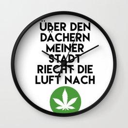 PALMEN AUS PLASTIK - Marihuana 187 Lyrics Wall Clock