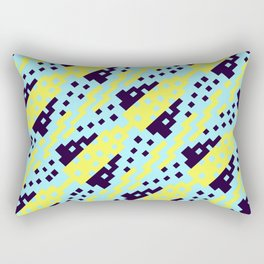 Chocktaw Geometric Square Cutout Pattern - Electric Ray Rectangular Pillow