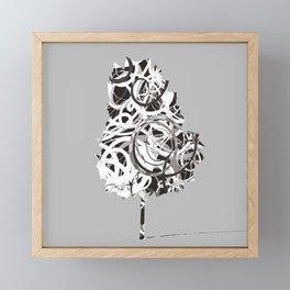 Fantasy Tree in black and white Framed Mini Art Print