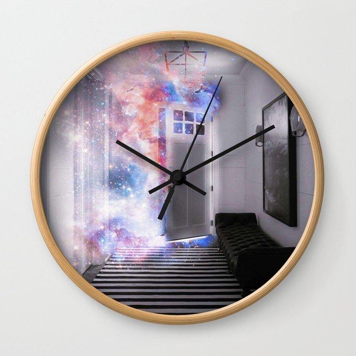 Door of the Galaxy Wall Clock