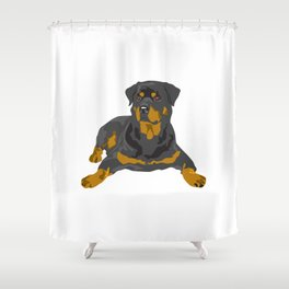 Hottweiler dog Shower Curtain