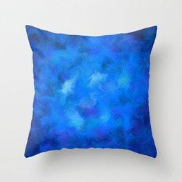 Denitamessa - deep blue world Throw Pillow