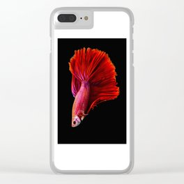 Siamese fighting fish Clear iPhone Case