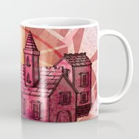 the lights Mugs featuring Lights by Manfish Inc.