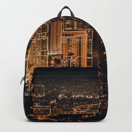Glowing city Backpack