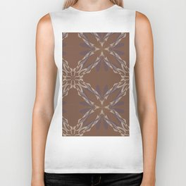 Pattern brown decoration Biker Tank