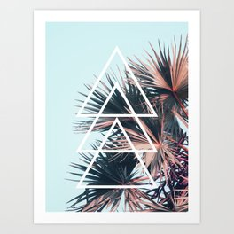 Triangle Tropical Right Art Print