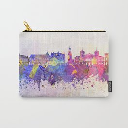 Aalborg skyline in watercolor background Carry-All Pouch