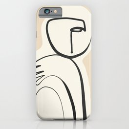 Lady Portrait Abstract Minimal  Line Art 3 iPhone Case