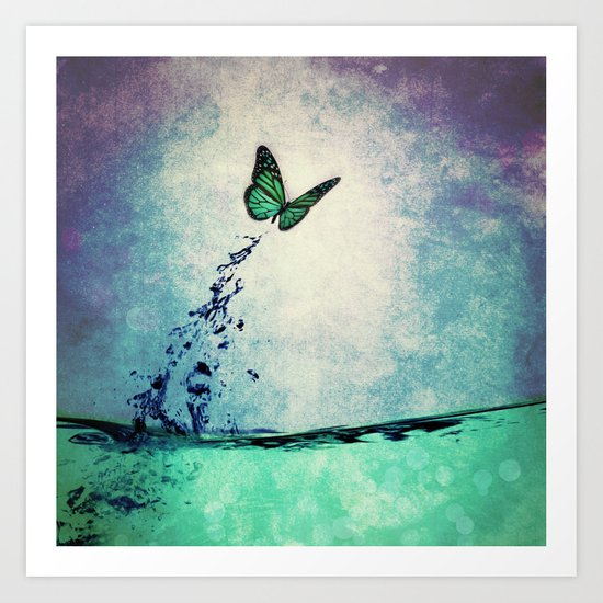 Waterfly Art Print