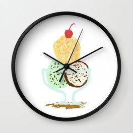 Summer Ice Cream Bowl Wall Clock