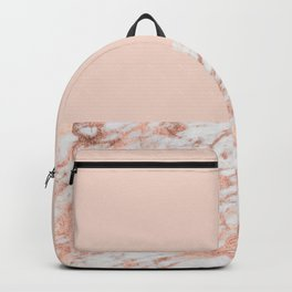 Blush massarosa - rose gold marble Backpack