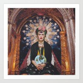 Queen Frida Art Print