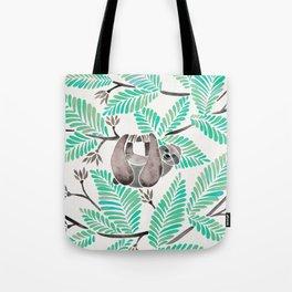 Happy Sloth – Tropical Mint Rainforest Tote Bag