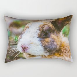Rabbit in a natural park on the French Riviera Rectangular Pillow