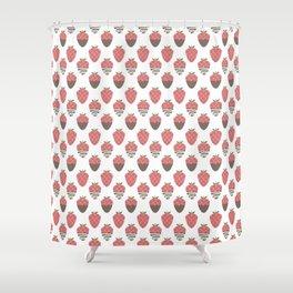 Strawberry indulgence  Shower Curtain